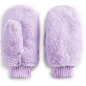 NWT Women's SO Faux Fur Mittens - Purple